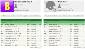 6) The Blair Walsh Project vs 8) Team Reese