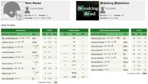 7) Team Reese vs 1)[B]reaking [Br]adshaw